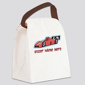 Personalized Racecar Canvas Lunch Bag
