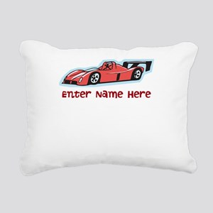Personalized Racecar Rectangular Canvas Pillow