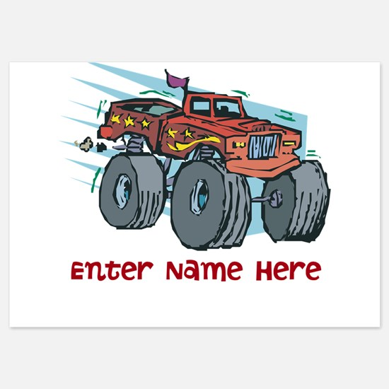 Personalized Monster Truck Invitations