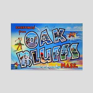 Oak Bluffs Massachusetts Greetings Rectangle Magne