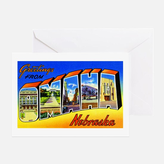 Omaha Nebraska Greetings Greeting Card