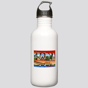 Peoria Illinois Greetings Stainless Water Bottle 1
