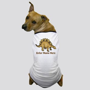 Personalized Stegosaurus Dog T-Shirt
