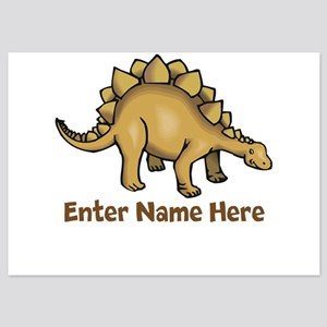 Personalized Stegosaurus 5x7 Flat Cards