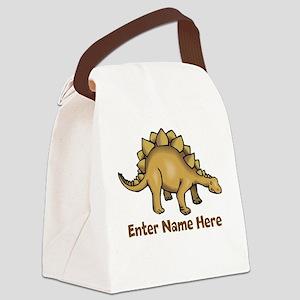 Personalized Stegosaurus Canvas Lunch Bag