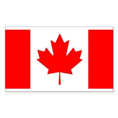Canadian Flag Sticker (Rectangle 10 pk)