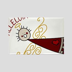 Alleluia Angel Rectangle Magnet