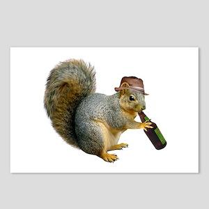 Squirrel Beer Hat Postcards (Package of 8)