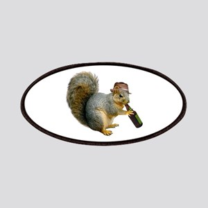Squirrel Beer Hat Patches