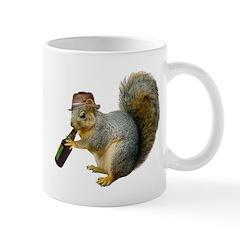 Squirrel Beer Hat Mug