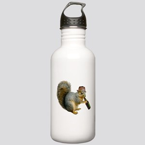 Squirrel Beer Hat Stainless Water Bottle 1.0L