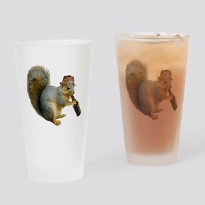 Squirrel Beer Hat Drinking Glass