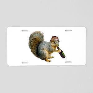 Squirrel Beer Hat Aluminum License Plate