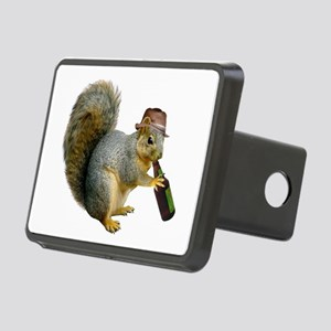 Squirrel Beer Hat Rectangular Hitch Cover