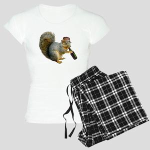Squirrel Beer Hat Women's Light Pajamas