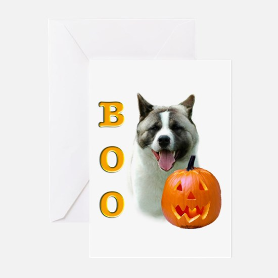 Halloween Akita Boo Greeting Cards (Pk of 10)