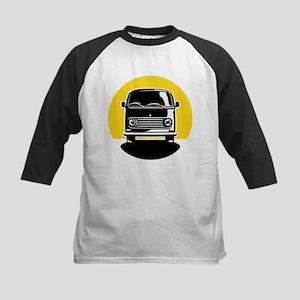 Minivan in Sunset 2 Kids Baseball Jersey