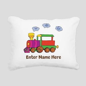Personalized Train Engine Rectangular Canvas Pillo