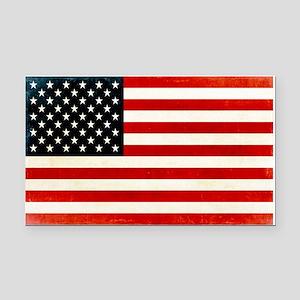 Vintage American Flag Rectangle Car Magnet