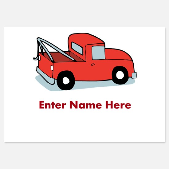 Personalized Tow Truck Invitations