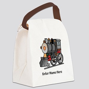 Personalized Train Engine Canvas Lunch Bag