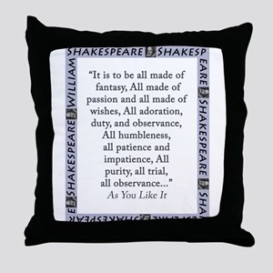 It Is To Be All Made Of Fantasy Throw Pillow