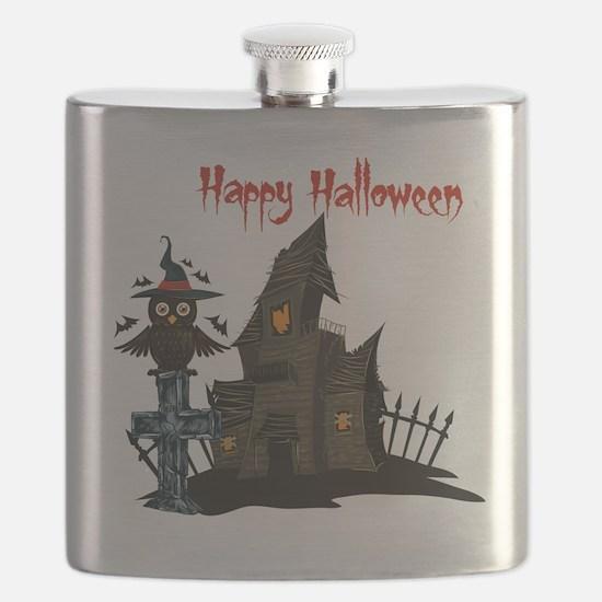 Halloween Owl Flask