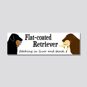 Fetching Flat-coated Retriever Car Magnet