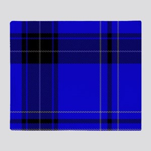 black and blue Plaid Throw Blanket