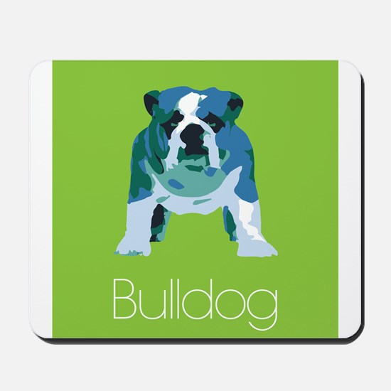 English Bulldog Pop Art Mousepad