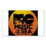 Music Of The Sea Sticker (Rectangle 10 pk)