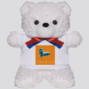 Dachshund Pop Art Teddy Bear
