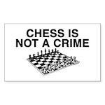 chessnotacrimePic2 Sticker (Rectangle 10 pk)