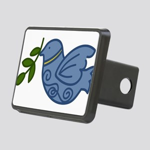 Holiday Peace Bird Rectangular Hitch Cover