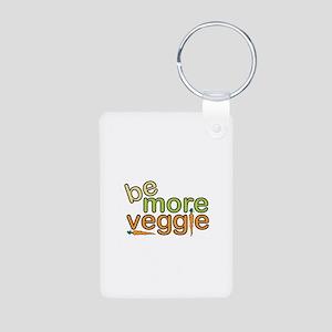 Be More Veggie Aluminum Photo Keychain
