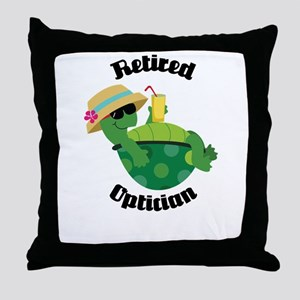 Retired Optician Gift Throw Pillow
