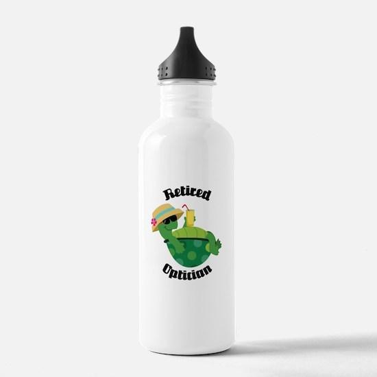 Retired Optician Gift Water Bottle