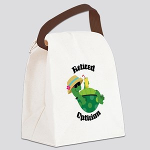 Retired Optician Gift Canvas Lunch Bag