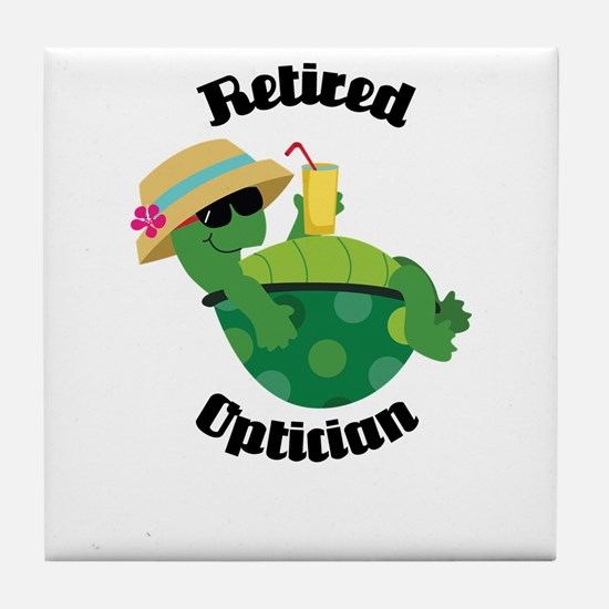 Retired Optician Gift Tile Coaster