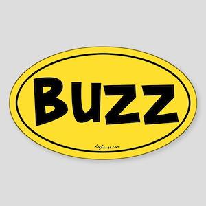 Buzz Oval Sticker