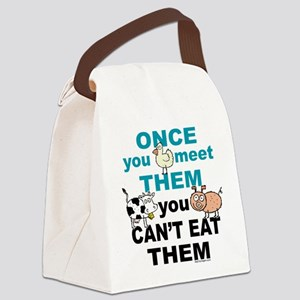 Vegan Animal Message Canvas Lunch Bag