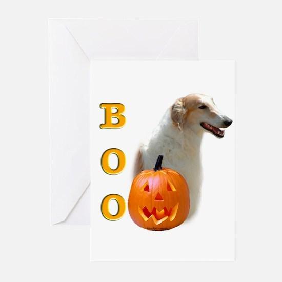 Halloween Borzoi Boo Greeting Cards (Pk of 10)