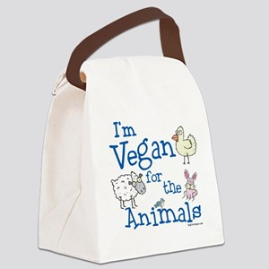 Vegan for the Animals Canvas Lunch Bag