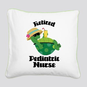 Retired Pediatric Gift Square Canvas Pillow