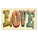 Love Sticker (Rectangle 10 pk)