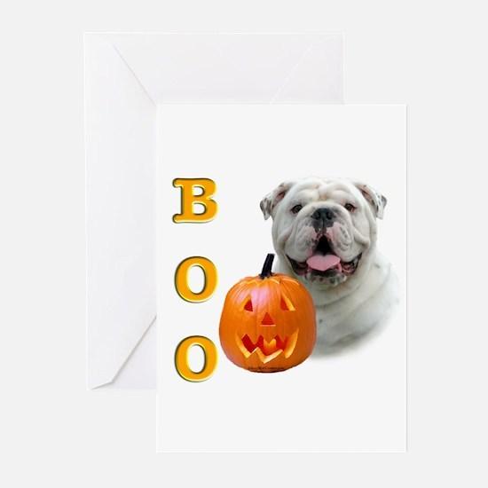 Halloween Bulldog Boo Greeting Cards (Pk of 10