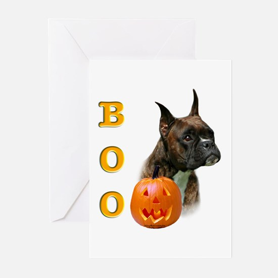 Halloween Boxer Boo Greeting Cards (Pk of 10)
