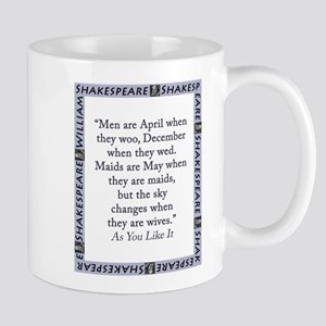 Men Are April When They Woo 11 oz Ceramic Mug