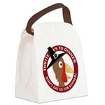Vegan Thanksgiving Canvas Lunch Bag