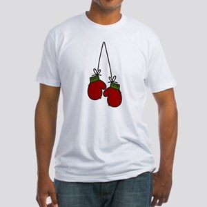 Red Mittens Fitted T-Shirt